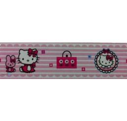 Samolepiaca bordúra Hello Kitty