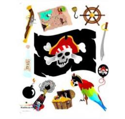 Maxi nálepka na stenu Piráti