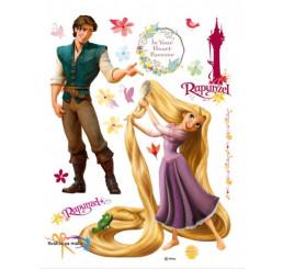 Maxi nálepka na stenu Rapunzel a princ