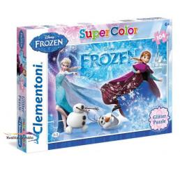 Puzzle Ľadové kráľovstvo Glitter  PT-29712 104 dielikov, 34x24 cm