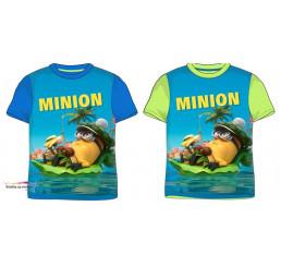 Detské tričko Mimoni Bananas krátky rukáv modré bavlna veľ.134/140