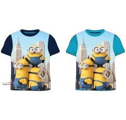 Detské tričko Mimoni le Buddies krátky rukáv modré bavlna veľ.134/140