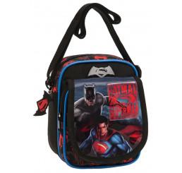 Taška cez rameno s vreckom Batman vs Superman 15x19x10 cm