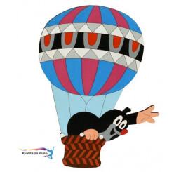 Drevená dekorácia Veľká Krtko v balóne