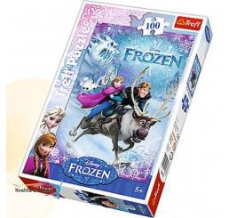 Puzzle Ľadové Kráľovstvo 100 dielikov papier, 28x41