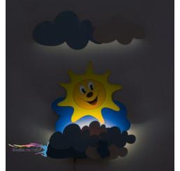 LED Lampička Slniečko s mráčikmi