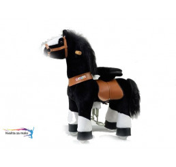 Ponnie jazdiaci kôň Black biely Hoof 62x28,5x76