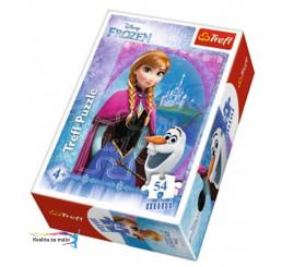 Puzzle Ľadové kráľovstvo Anna 54 dielikov kartón 54 dielikov