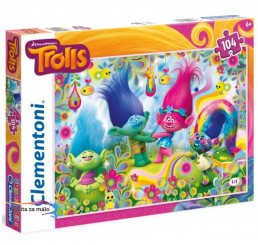 Puzzle Trollovia Kartón 104 dielikov