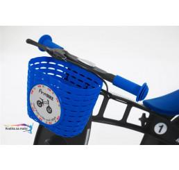 Košík na riadidlá modrý