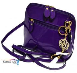 Crossbody kabelka fialová oblá