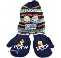 Detská čiapka s rukavicami Macko Pooh farebná