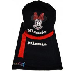 Detská Čiapka so šálom Minnie čierna