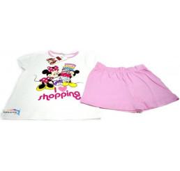 Detské pyžamo Disney Minnie bielo-ružové