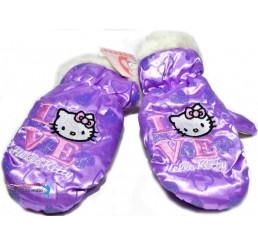 Detské rukavice Hello Kitty fialové