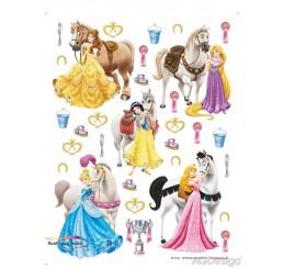 Maxi nálepka na stenu Princezné a kone
