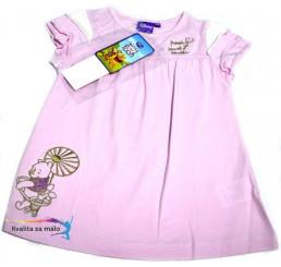 Detské tričko predĺžené Macko Pooh ružové