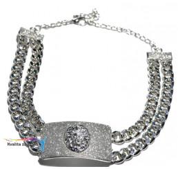 Elegantný náhrdelník strieborný plát