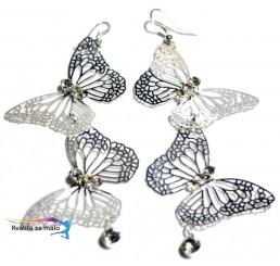 Náušnice Motýľ strieborné