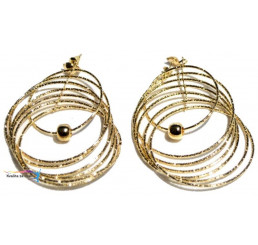Náušnice Zlaté kruhy 2