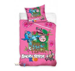Obliečky Angry Birds Rio ružové