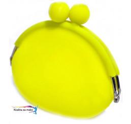 Peňaženka silikónová žltá neón