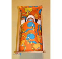 Perinky do postieľky pre bábiky Dážďovky