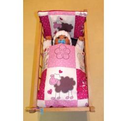 Perinky do postieľky pre bábiky Ovečky