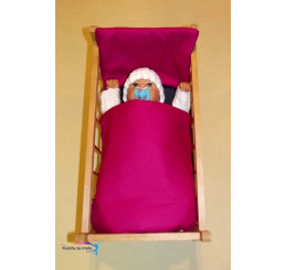 Perinky do postieľky pre bábiky Sýto ružové