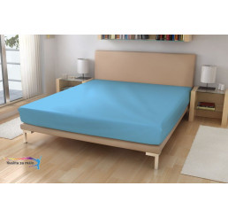 Nepriepustná Napínacia Jersey plachta sv. modrá 90x200