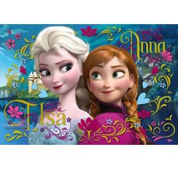 Puzzle Ľadové Kráľovstvo Anna a Elsa 100 dielov