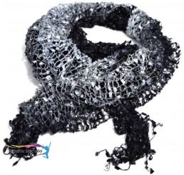 Šatka čierno strieborná 29