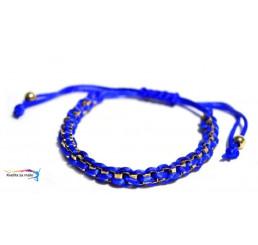 Shamballa Náramok zaťahovací modrý