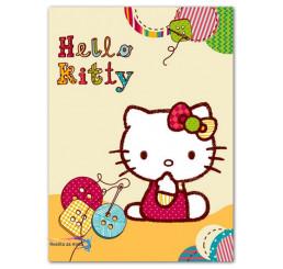Španielská deka Hello Kitty gombíky