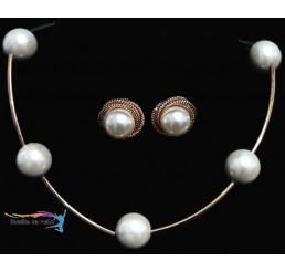 Spoločenská sada perlová 8