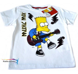 Tričko Detské Bart Simpson biele