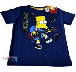 Tričko Detské Bart Simpson tmavo-modré