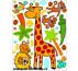 Samolepiaca maxi nálepka Žirafa